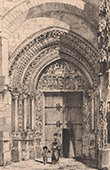 Vista de Rouen - Portale de Catedral - T�mpano (Fran�a)