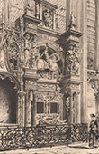 View of Rouen - Cathedral - Grave of Louis de Br�z� (France)