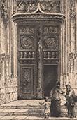 View of Rouen - Church Saint Maclou - North Portal - Renaissance (France)