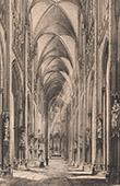View of Rouen - Church Saint Ouen - Interior (France)