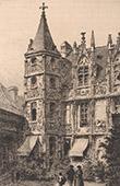 Vue de Rouen - H�tel de Bourgtheroulde (France)