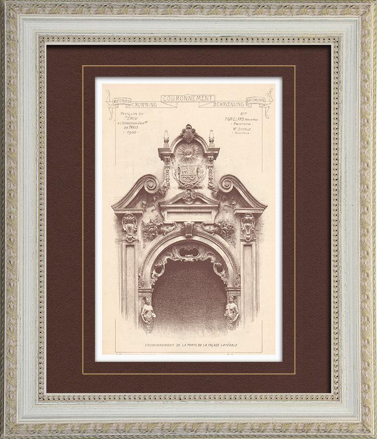 antique prints prints of pavillon. Black Bedroom Furniture Sets. Home Design Ideas
