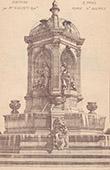 Fontaine - Place Saint-Sulpice � Paris (Visconti)