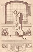 Fontaine - Cour d'une Maison 99 Rue Lafayette � Paris (Manguin)