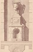 Fontaine - Cour d'une Maison  Rue du Bel-Respiro � Paris (J. Saulnier)