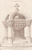 Baptismal Font - Notre-Dame-de-la-Croix de M�nilmontant Church in Paris (Heret)