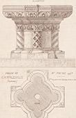 Baptismal Font - Church in Charleville - Ardennes - France (Racine)