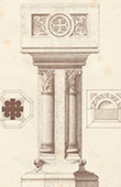 Baptismal Font - Castle of Roquetaillade - Gironde - France (E. Duthoit)