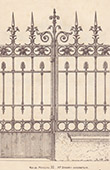 Wrought Iron Gate - House - 32 Rue de Monceau in Paris (Baudrit)