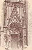 Door of St Michael Cathedrale in Seville - Spain