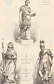 Statues - Antoninus Pius - Vatican Museum in Rome - Italy - Ste Genevieve (Guillaume) - St Martin - Pantheon - Paris
