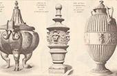 Vases - Herculanum - Naples Museum  - Castle Saint-Germain-en-Laye - France - Vatican Museums - Italy
