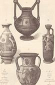 Vases - Greek terra cotta vases - Louvre Museum - Paris - Corinthian vase - Carthage - 6th Century BC