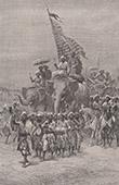 Sowarii in Baroda - Ceremony - Raja - 80 Elephants (India)