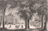 View of Paris - Jardin du Luxembourg - Palais du Luxembourg under the Reign of Catherine de' Medici (France)