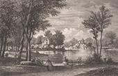 Vue du Parc de Le V�sinet - Yvelines - �le-de-France - Lac des Ibis