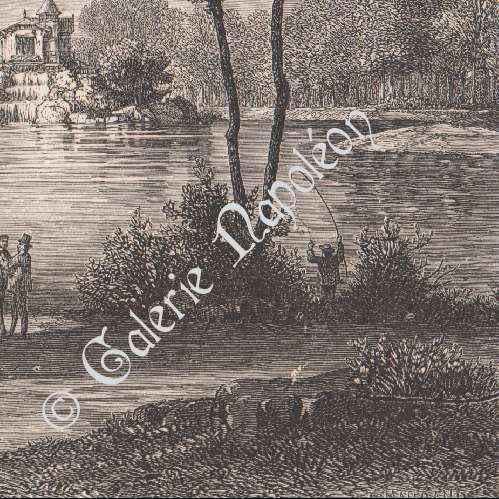 Gravures anciennes gravure de vue du parc de le v sinet for Parc des yvelines