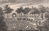 Jardin � la fran�aise - Jardin brod� sous Henri IV (France)