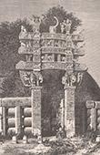 Buddhistisch Denkmal - Tope de Sanchi - Altar - Opfergaben (Madhya Pradesh - Indien)