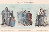Paris Commune (1871) - Les Types de la Commune - Caricatures (Bertall)