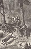 Fables of Aesop - The Old Gun dog (Ernest Griset)