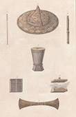 Timor - Chinese hat  - Weapons - Utensils (Indonesia)