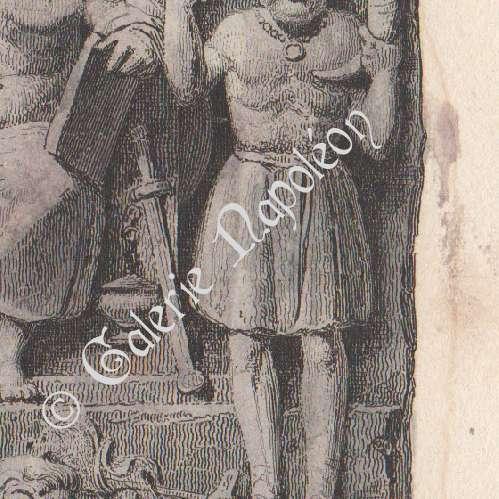 Antique Prints Sculpture Representation Of Divinities