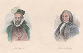 Portraits of Tycho Brahe and Carl Linnaeus (Sweden)