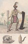 Borneo - Folkdr�kt av Alfouras - Musikinstrument (Insulind)