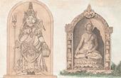 Java - Hindu Gudomar - Mahadeva - Buddha (Indonesien)