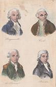 Portraits - French Explorers - Louis Antoine de Bougainville - James Cook - Jean-François de La Pérouse - Nicolas Baudin