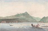 Franska Polynesien - Inseln unter dem Winde  - S�llskaps�arna - Vy �ver Huahine