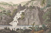 Franz�sisch-Polynesien - Tahiti - Pika Mall� - Basaltischer Felsen