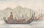 Pacific Islands - Franska Polynesien - Piroger - Fest - Flotta av Tahiti