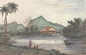 Pacific Islands - Franska Polynesien - Tahiti - Vy �ver Matava�