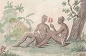 Pacific Islands - Franska Polynesien - Marquesas�arna - Tatuering av Flicka