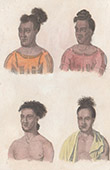 Caroline Islands - Feis Islands - Portrait of Four Chiefs (Oceania)