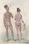 Caroline Islands - Man and Woman of Ualan Island (Oceania)