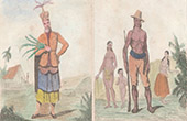 Marianerna - Couaham - Dans av Kejsare Montezuma - Folkdr�kt - Bygdedr�kt