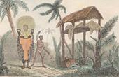 Toupapou mit einer Leiche (Tahiti)