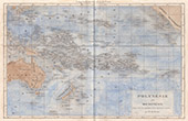 Gammalt Kartl�gga - Polynesien och Mikronesien (Oceanien)