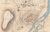 Ancienne carte - Guerres napoléoniennes - Guerre d'Indépendance Espagnole - Siège de Ciudad Rodrigo (1812)