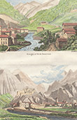 Vue de Arn�guy (Pyr�n�es-Atlantiques - France) - Ville et Fort de Venasque - Aragon (Espagne)