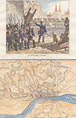 French Revolutionary Wars - Siege of Tortose (1811) - Marshal Suchet - Antique map