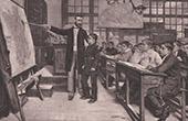The Black Spot - School - Teaching - Teacher - Pupils (Albert Bettannier)