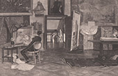 A Painter's Studio in 1885 (Ernest Ange Duez)