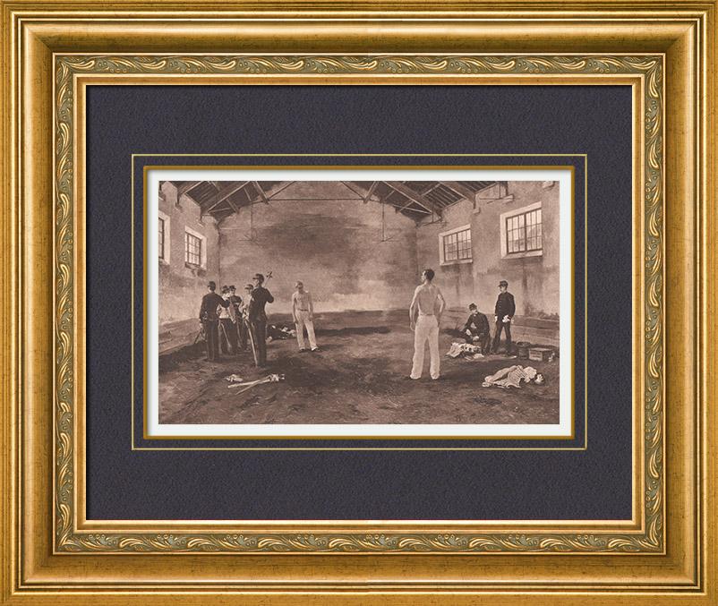 Gravures Anciennes & Dessins   Dans le Manège avant le Duel (M. Roy)   Héliogravure   1885
