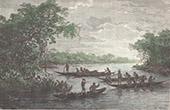 Amerindiens - Wayana - Rouapir - Piroge (Bergland von Guayana)