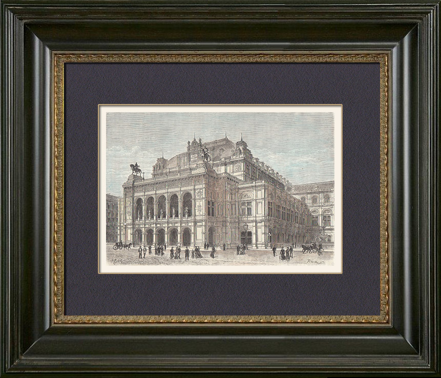 Dynamisch Saalplan Wiener Staatsoper Galerie: Stich Von Wien - Oper - Wiener Staatsoper