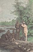 Amerindiens - Wayana - Beobachtungen mit einem Theodolit (Bergland von Guayana)